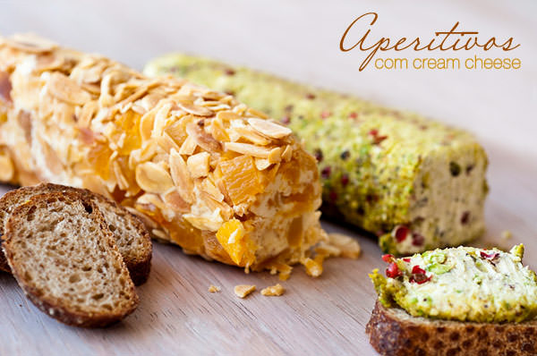 Receita aperitivos com cream cheese