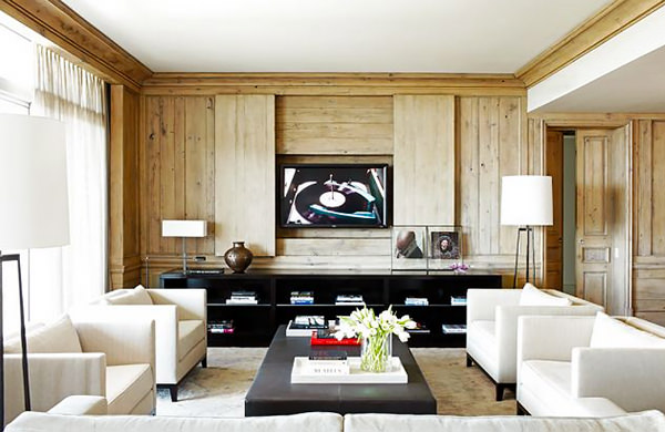 5 ideias crativas para esconder a tv How to disguise wood paneling