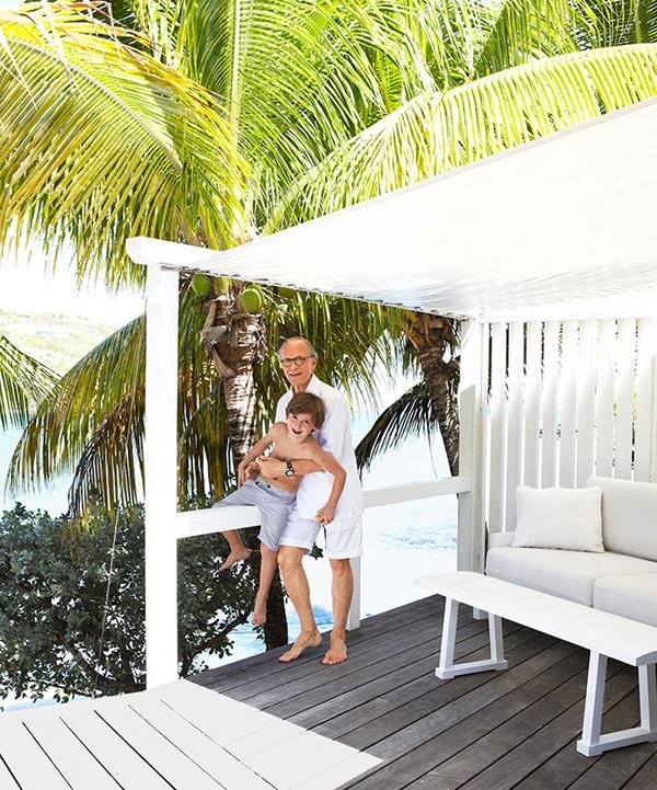 Casa de praia em St. Barts do designer francês Christian Liaigre
