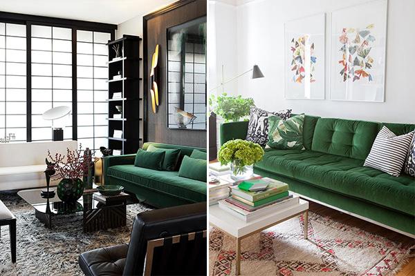 15 Salas Com Sofa Verde Para Te Inspirar