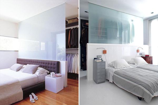 Ideias de painéis e divisórias para quartos com closet
